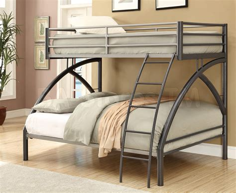 twin over full metal bunk bed gun metal twin over full bunk bed bunk beds coa 460079 8