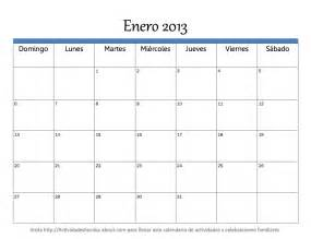 Calendario De Meses Imprimir Calendario 2013 Mes A Mes Universo Guia