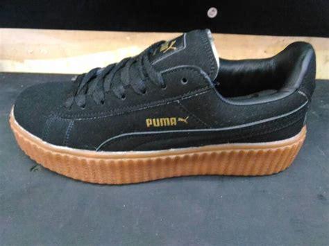 Harga Asli Rihanna jual sepatu rihanna fenty hitam sol coklat