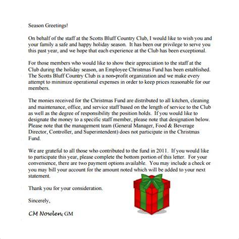 sample christmas letter  documents   word