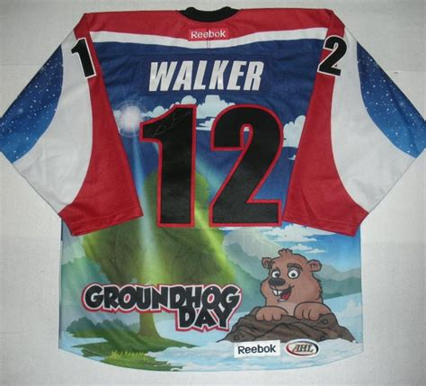 groundhog day auction nathan walker hershey bears groundhog day autographed