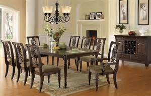 Classic Dining Room Tables F2162 Classic Dining Room In Brown By Poundex