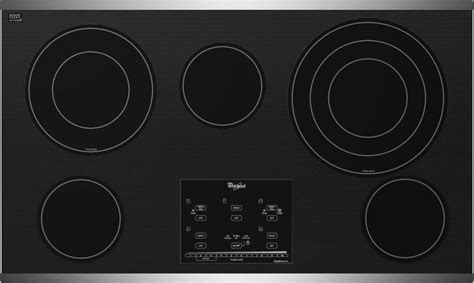 whirlpool gold 36 electric cooktop whirlpool g9ce3675xs 36 quot smoothtop electric cooktop with 5