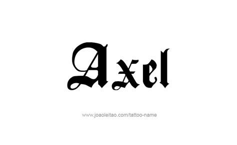 axel name tattoo designs