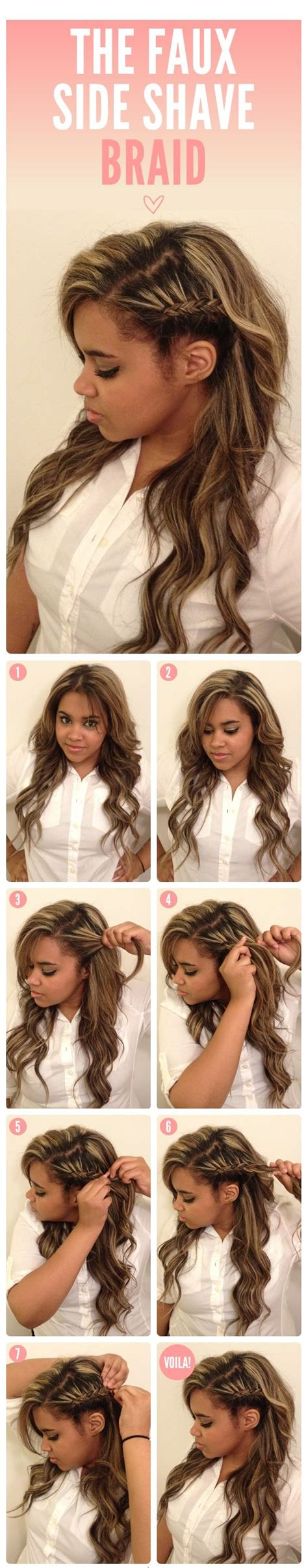 shaven hairstyle totorial top 15 easy to make braids tutorials side shave faux