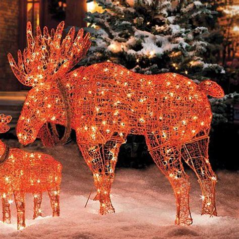 improvements  lighted wireframe moose christmas decoration  hsncom christmas decorations
