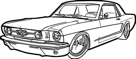 coloring pages cars mustang ford mustang car coloring page wecoloringpage