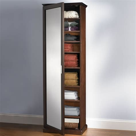 Clothing Cabinet by The Mirrored Clothes Cabinet Hammacher Schlemmer