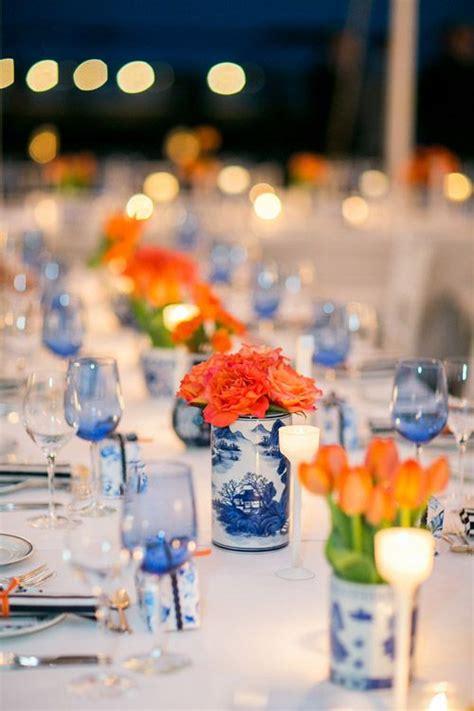 orange and blue wedding theme wedding flair
