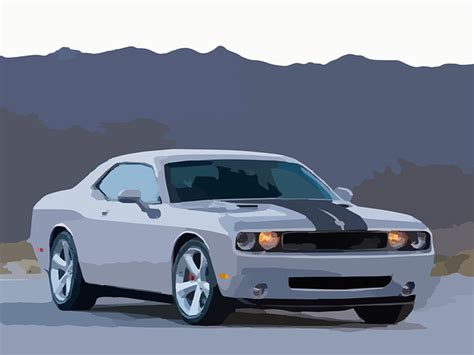 Dodge Auto by Free Vector Graphic Dodge Car Sports Car Challenger