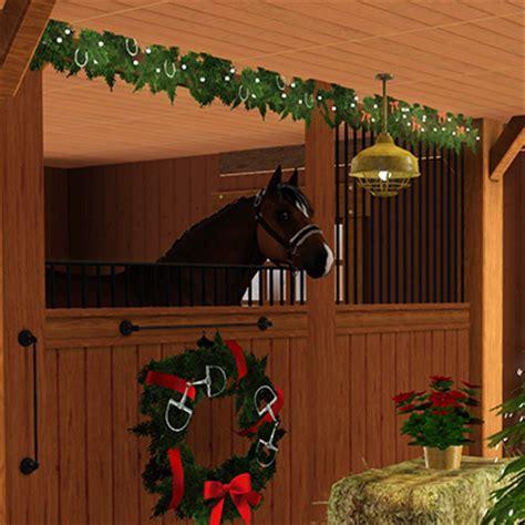 christmas decorating with horses stable decor lakeside saddlery