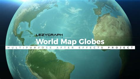 World Map Globes 3d Object After Effects Templates F5 Design Com 3d Globe After Effects Template
