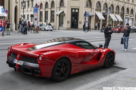 Ferrari M Nchen by Epic Red Laferrari Snapped In Munich Gtspirit