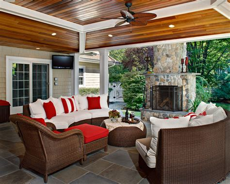 Backyard Porches by Backyard Traditional Porch New York By