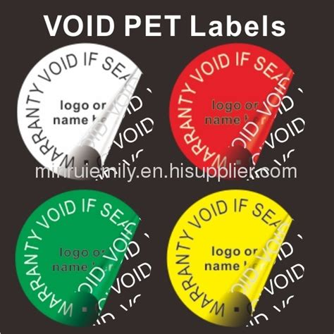 printable void labels custom round warranty void labels water proof pet void