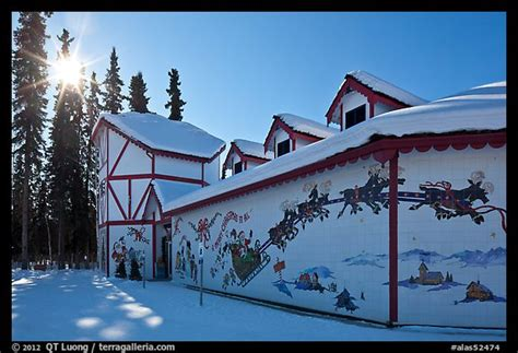 santa claus house north pole ak picture photo santa claus house and sun in winter north