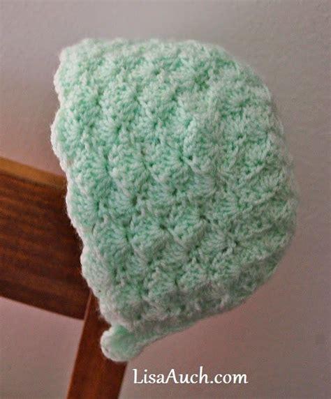shell pattern crochet video baby shell bonnet free crochet pattern free crochet