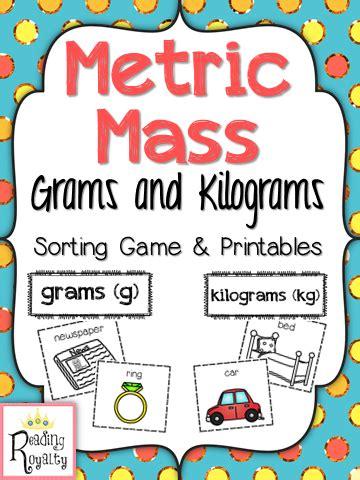 metric mass sorting grams and kilograms activities students and math
