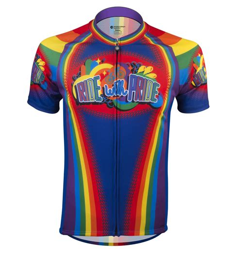 Jersey Multi ride with pride rainbow cycling jersey multi colored
