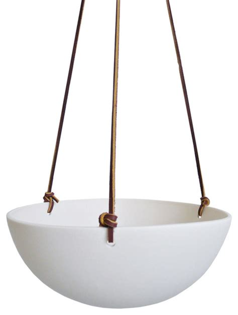 Eggshell Hanging Planter Contemporary Indoor Pots And Indoor Hanging Planters