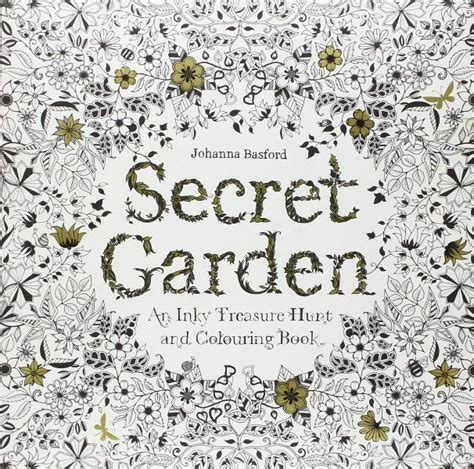 secret garden an inky treasure hunt and coloring book australia new trend coloring books เทรนด ใหม