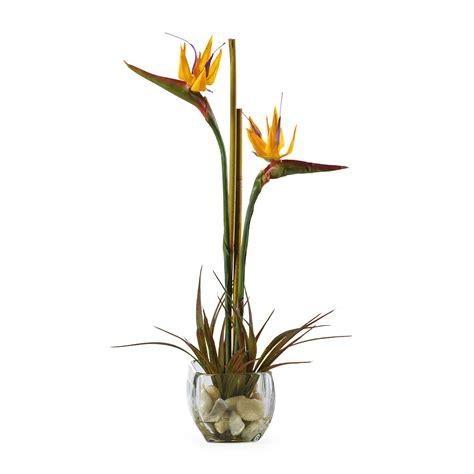 Fake Plants For Home Decor by Bird Of Paradise Silk Flower Arrangement Silk Specialties