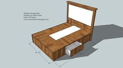 Bed With Drawers Underneath Plans by How To Build Bed Frame With Drawers Plans Plans