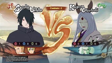 boruto vs kaguya naruto storm 4 sasuke ninja errante naruto hokage y