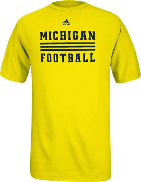 michigan football fan gear michigan wolverines football t shirt yellow