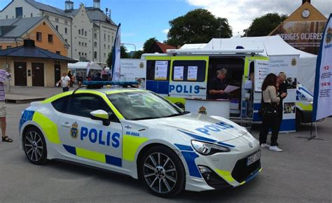 toyota showed  gt police car  inspire  swedish police department   wouldnt