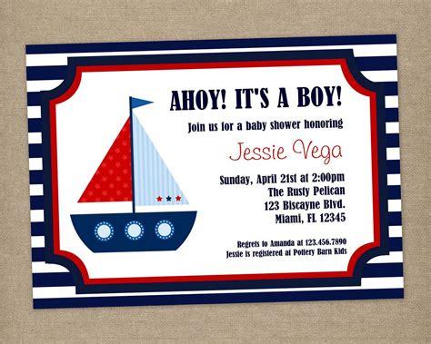 Nautical Baby Shower Invitation Nautical Invitation Printable Diy Craft Ideas Pinterest Nautical Baby Shower Invitations Templates