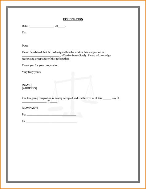 Offer Letter Quiting Acceptance Letter Of Resignation Resume Objective Exles