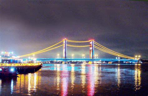 wisata jembatan ampera sea games    kota palembang