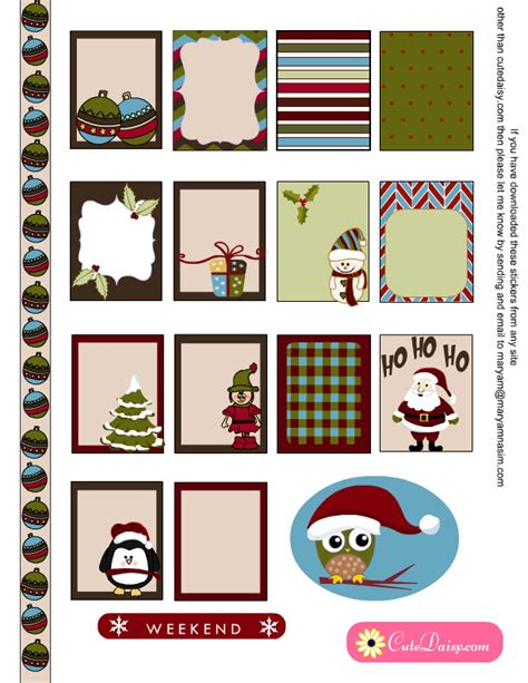 printable christmas decals free printable christmas sticker sler kit