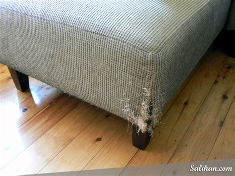 cat scratching couch solution repairing cat scratched sofa salihan crafts blog