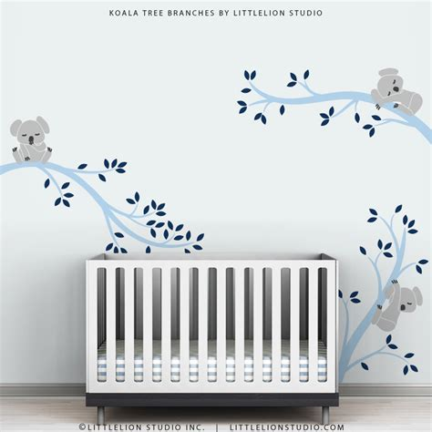 Nursery Wall Decals For Baby Boy Baby Boy Wall Decal Decor Baby Nursery Light And Navy Blue