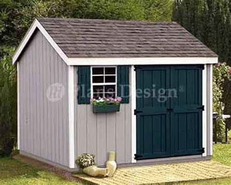 Shed Money by Shed Plans 8 X 10 Storage Utility Garden Building