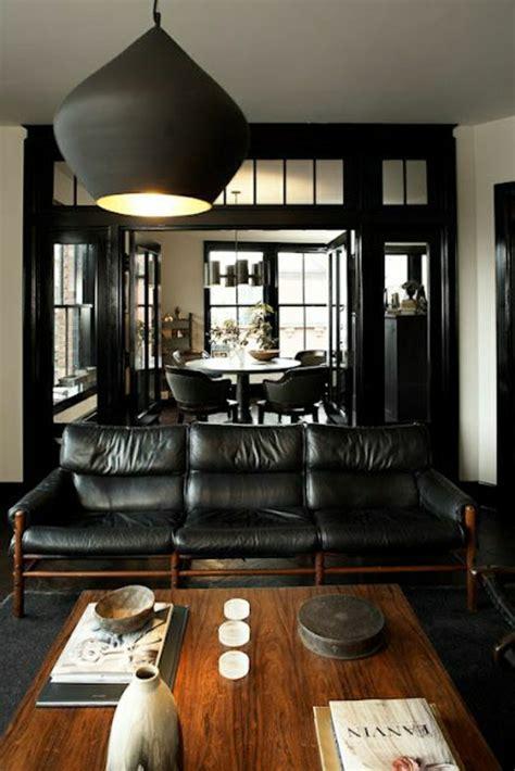 salon moderne cuir noir id 233 es de d 233 coration et de