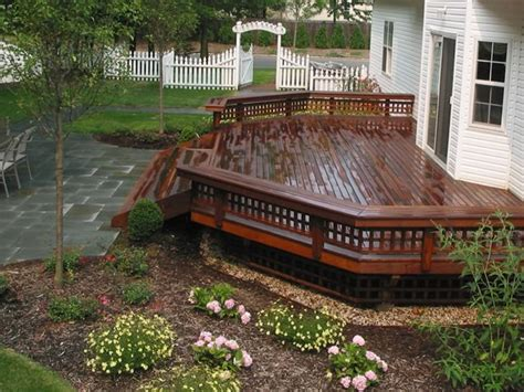 Landscape Deck Patio Designer Deck Design Stony Brook Ny Photo Gallery Landscaping Network