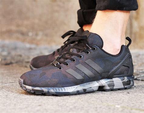 Sepatu Adidas Zx Flux Camo adidas zx flux black camo the sole supplier