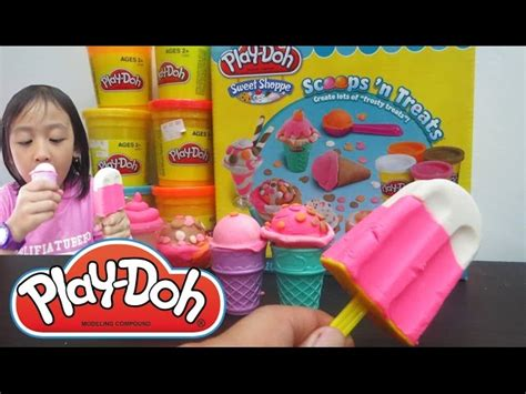 Doh Mainan Anak play doh cupcakes popsicle scoop playset autos post