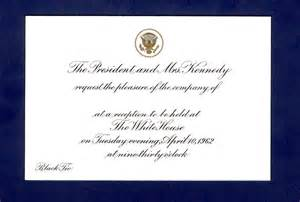 white house invitation f kennedy presidential library museum