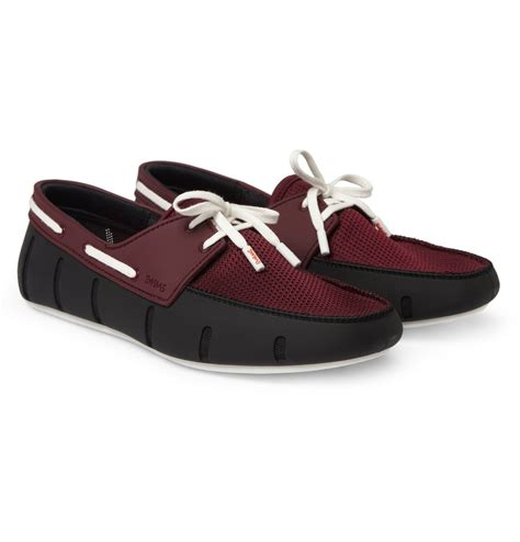 swims rubber and mesh boat shoes swims rubber and mesh boat shoes in purple for men black