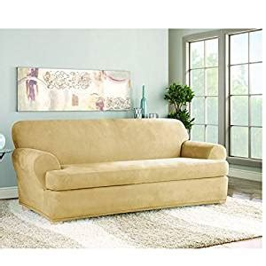 buy sofa slipcovers buy sure fit stretch suede t cushion two piece sofa