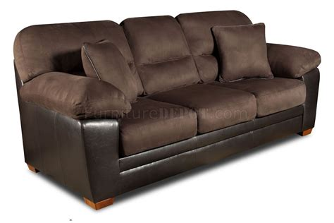 Accent Pillows For Brown Sofa Brown Godiva Microfiber Sofa Loveseat Set W Accent Pillows