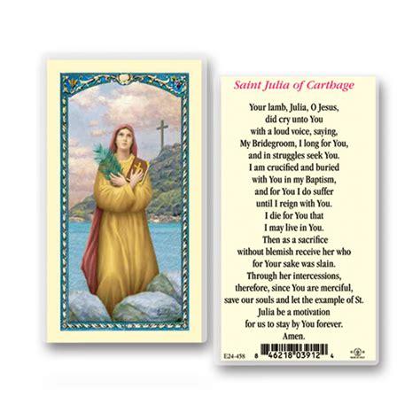 saint julia holy card