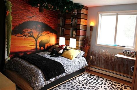 themed bedrooms decorating with a modern safari theme