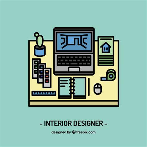 interior designing free interior designer workplace vector free