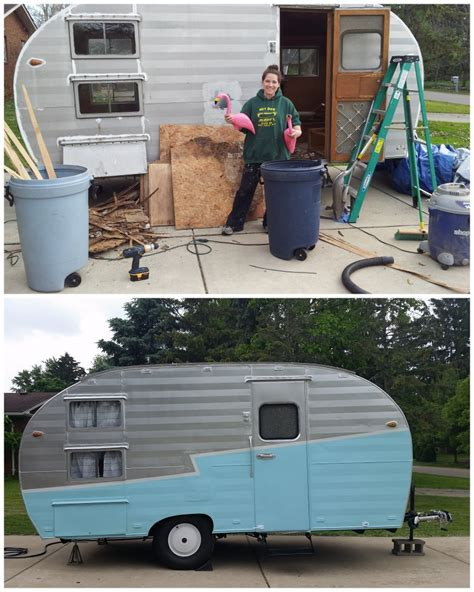 after trailer gidget the vintage trailer welding and frame repair