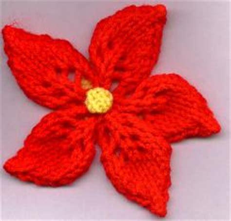 knitted poinsettia poinsettia knitting bee
